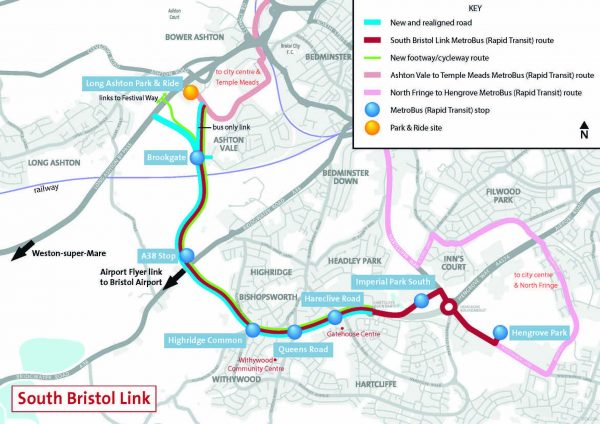 south bristol link route map