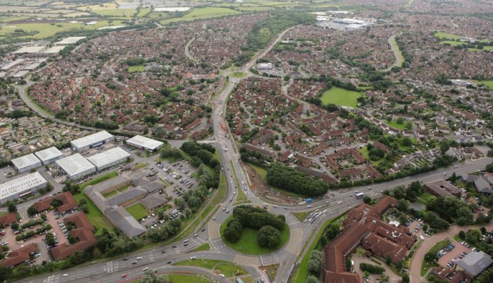 bradley stoke way aerial view